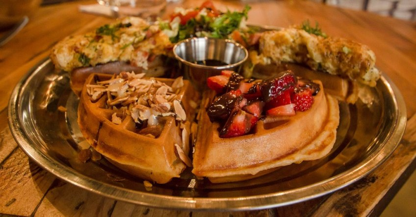 Doma Kitchen's Thanksgiving Breakfast Waffles