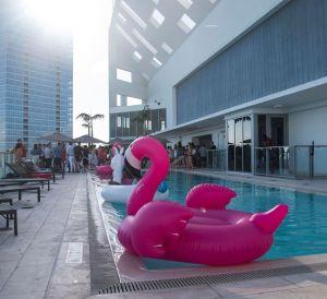 Rose Piscine Pool Party