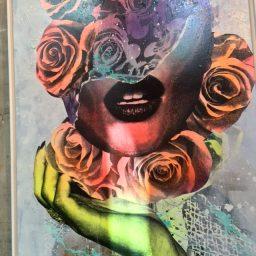 LaMuse Café Flowers Lips Art