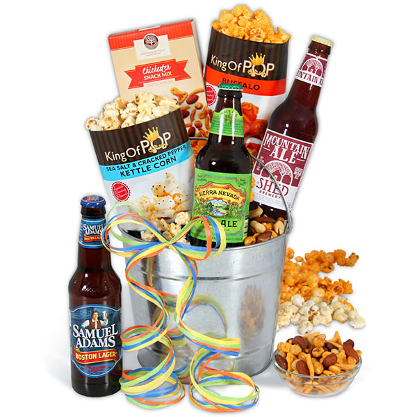 Unique Dad Gift Microbrew-Beer-Bucket-Gift-Basket-3-Beers_large