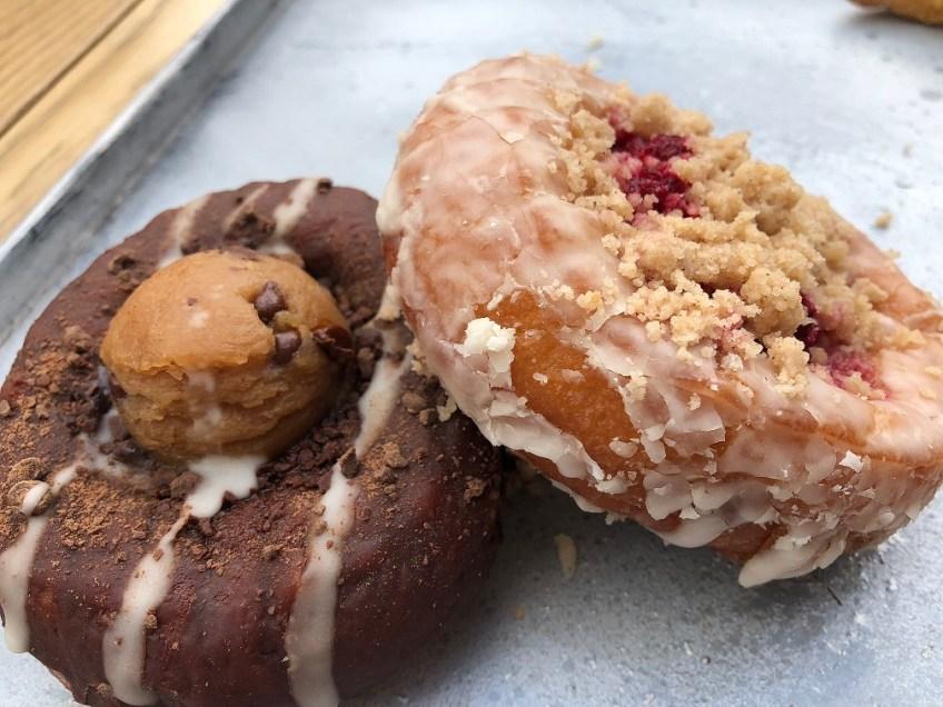 Vegan Food Cinnamon Snail Donuts