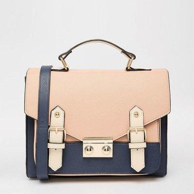Asos Collection 'Blocked' Satchel Handbag