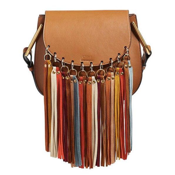 Chloé 'Small Hudson' Suede Tassels Leather Shoulder Bag
