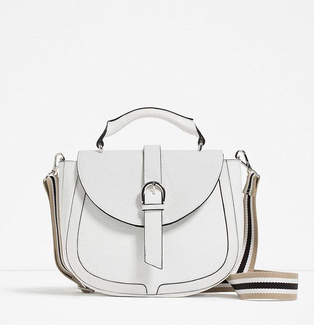Zara Leather Messenger Bag w/ Handle