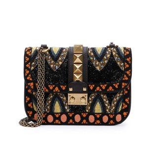 Valentino Small Beaded Leather Shoulder Bag