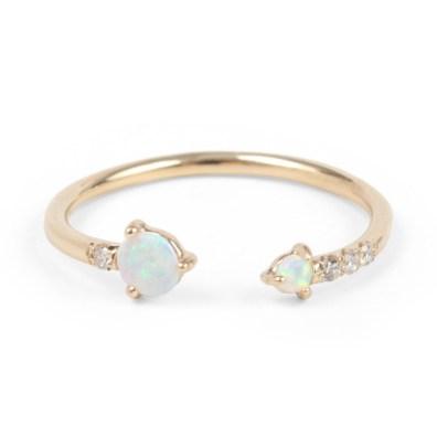 Catbird, Open Opal and Diamond Ring Wwake (okoli 700 evrov)