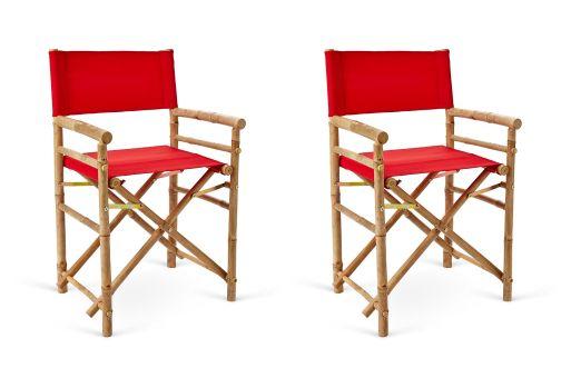 Outdoor-Safe Director's Chairs, Pair (onekingslane.com, okoli 100 evrov)