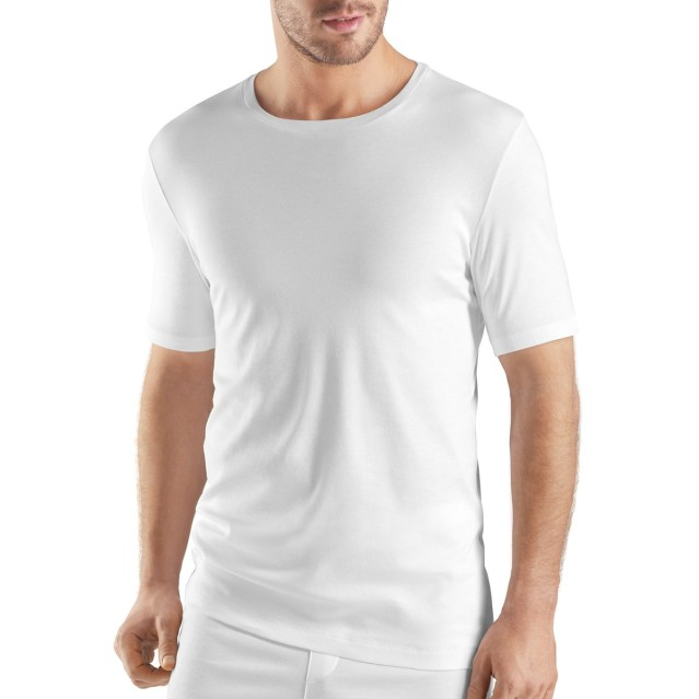 HANRO Sea Island Cotton Short Sleeve Crew Neck – cena: 160 evrov