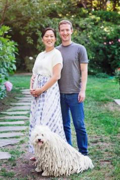 Mark Zuckerberg in Priscilla Chan
