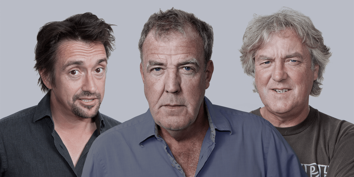 Jeremy Clarkson, James May in Richard Hammond.