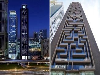 Stolp The Maze Tower, Dubaj (Združeni arabski emirati)