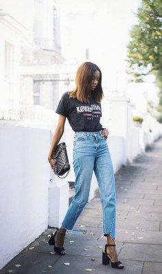 Vintage majica + odrezane džinske