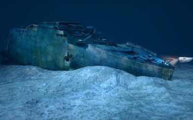 Razbitine Titanika 4000 metrov pod vodo