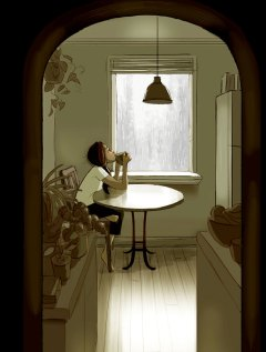 Lahko uživate v tišini ter prisluhnete padajočemu dežju.