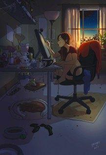 Svojo kreativnost lahko potešite tudi sredi noči.