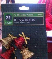 Božični zvončki v obliki zvonca za božično drevo v obliki drevesa