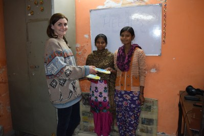 Sanitary Pad distribution to Girls