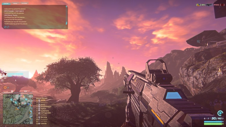 Planetside 2 is an MMOFPS for PC and PS4.