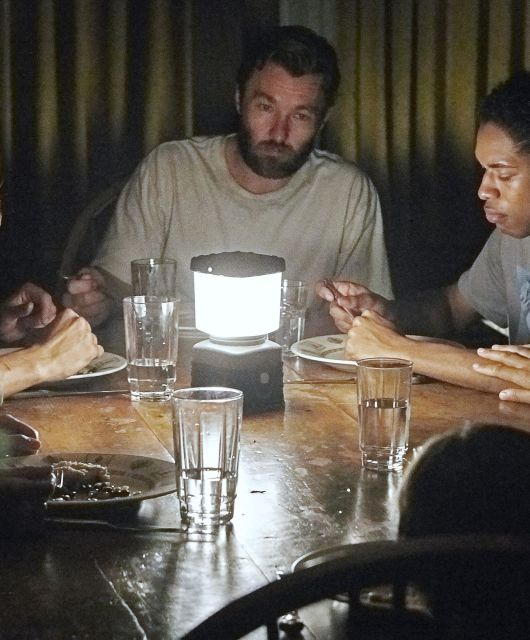 Kelvin Harrison Jr., Carmen Ejogo, Riley Keough, & Joel Edgerton in 'It Comes At Night' | A24/Eric McNatt