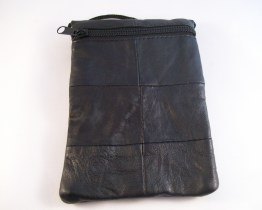 Leather Neck Bags Black