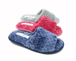 Ladies Open Toe Mule Slippers, Peep Toe