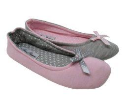 four seasons ladies ballerina slippers