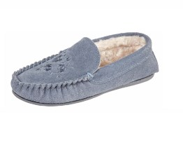 leather moccasin slippers