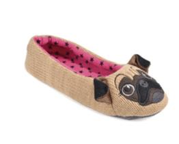 novelty pug slippers