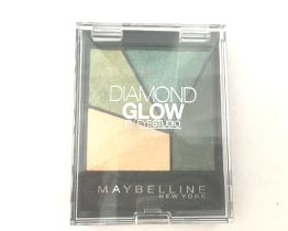 maybelline diamond glow eyeshadow quad forest drama