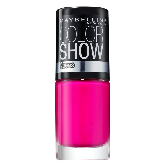 Maybelline Color Show Nail Polish Electric Pink 188, Pink Nail Varnish, Neon