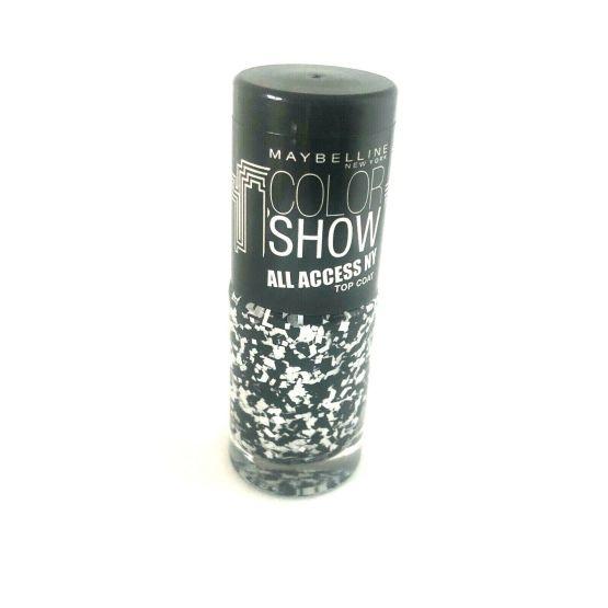 Maybelline Color Show Nail Polish Pave The Way 422, Black Nail Polish, Top Coat