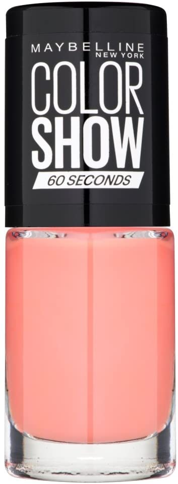Maybelline Color Show Nail Polish Canal Street Coral 329, Peach Nail Varnish