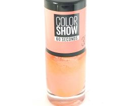 Maybelline Color Show Nail Polish Fire Island 30, Peach Nail Varnish