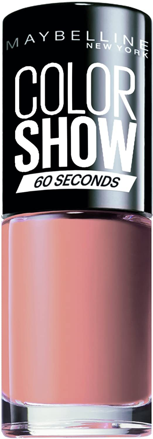 Maybelline Color Show Nail Polish Go Bare 1, Nude Nail Varnish