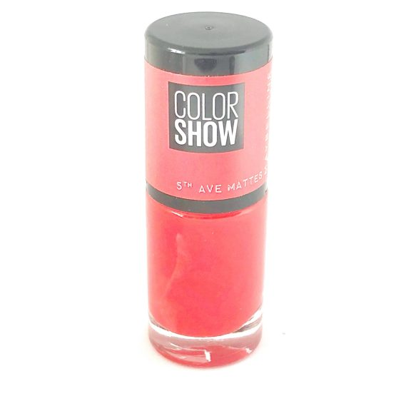 Maybelline Color Show Nail Polish Traffic Stop 455, Red Nail Varnish, Matte