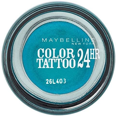 Maybelline Color Tattoo Eyeshadow Turquoise Forever 20, Blue Eyeshadow, Cream Eyeshadow