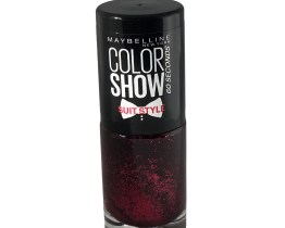 Maybelline Color Show Nail Polish Red Reaction 444, Red Nail Varnish, Textured, 60 Seconds, Glitter
