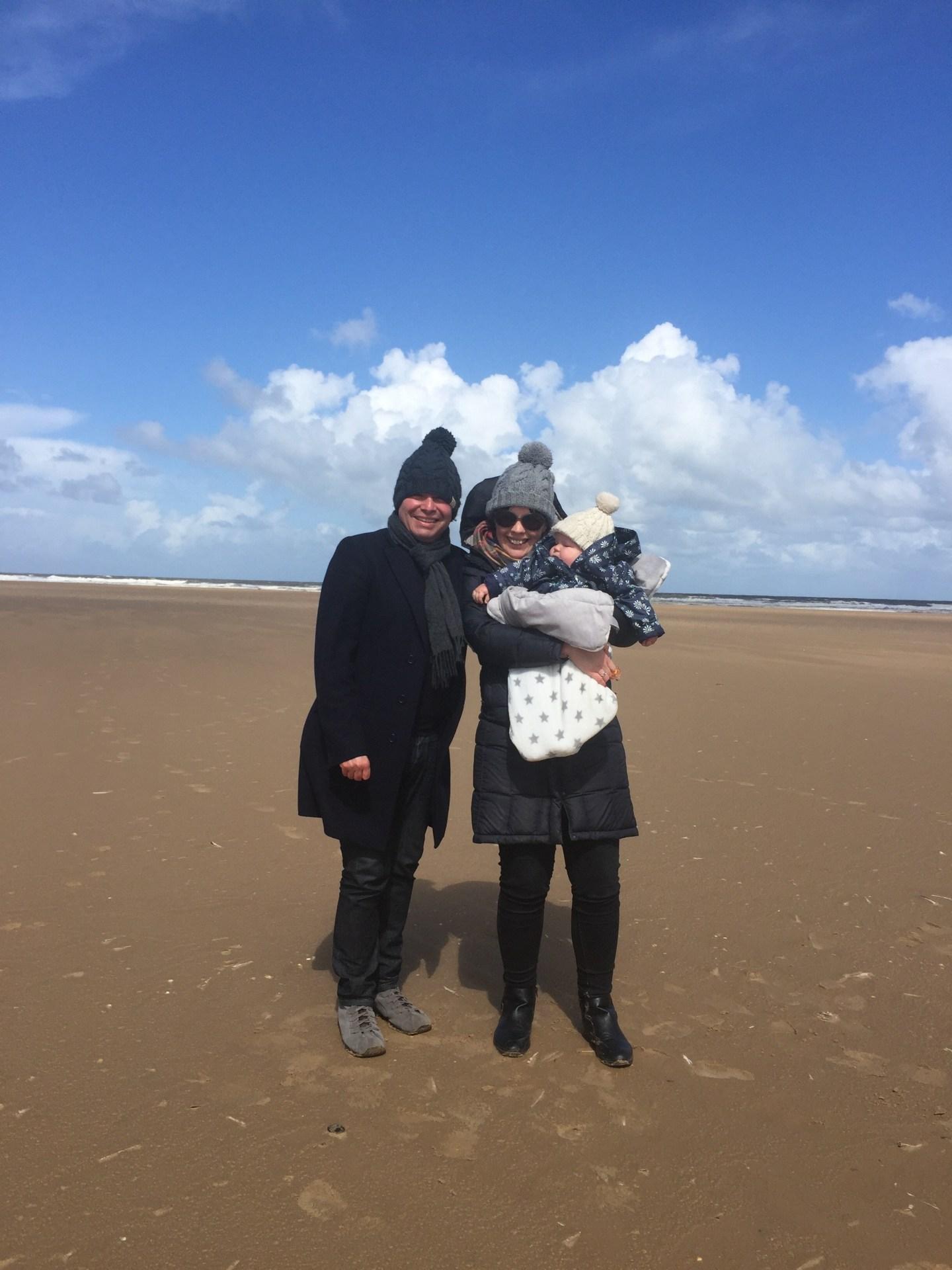 Family pic Holkham beach