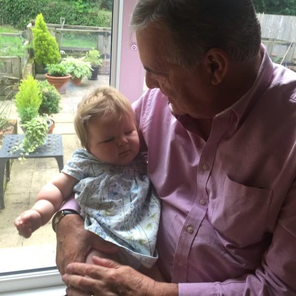 Grandad and grandaughter