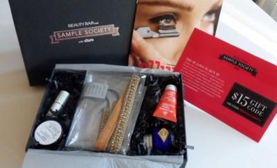 September Sample Society Beauty Bar selections