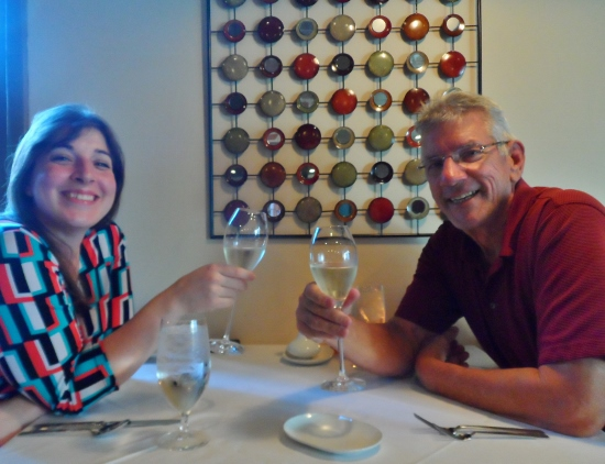 Dad's first wine pairing dinner!