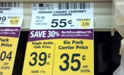 Safeway Ferrari Carano mistake price
