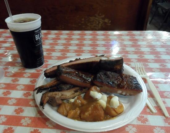Black's BBQ ribs & brisket