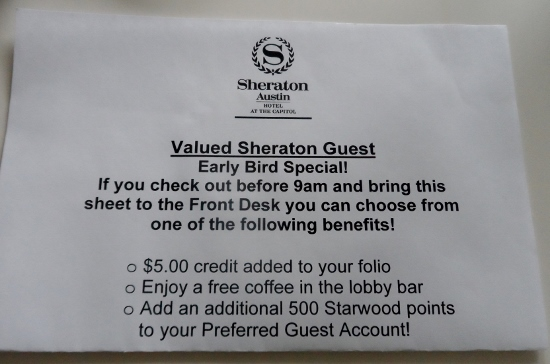 Sheraton Austin Hotel at the Capitol Early Bird Special