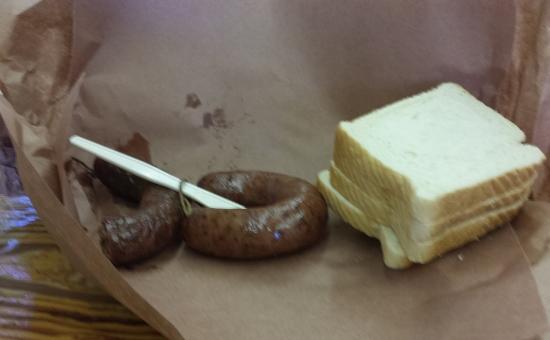Smittys Market Jalapeno and Regular Sausage, Lockhart BBQ