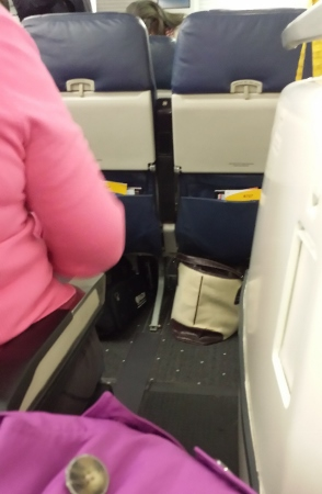 US Airways Exit Row a321 obstruction