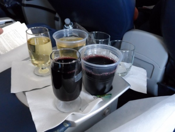 US Airways First Class Double wine