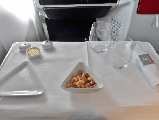 Austrian Airlines Business Class Dinner Service Plating