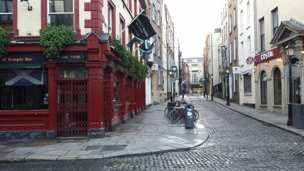 Dublin Temple Bar in Morning