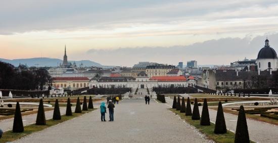 View of Lower Belvedere from Upper Belvedere Vienna